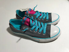 NWT GIRLS Youth Converse All Star  No Time To Lace Sneakers Shoes Size  5