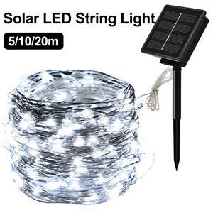 50/100 LED Solar Powered String Fairy Lights Outdoor Garden Wedding Party Xmas