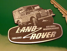 "LAND ROVER DEFENDER Self Adhesive Classic Car BADGE 3"" Off Road Solihull England"