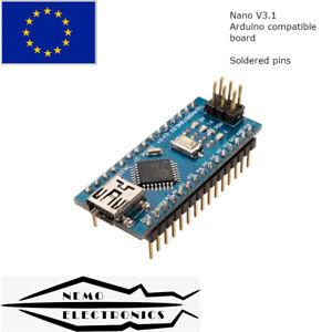 Nano ATmega 328 V3.1 Arduino compatible board CH340G 5V Soldered EU STOCK