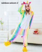 Rainbow Unicorn Unisex Kigurumi Animal Cosplay Costume Onesie3 Pajamas Sleepwear