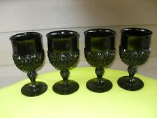 4 Tiara Cameo Black Diamond Point Water Goblets