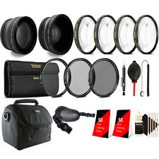 58mm Complete Accessory Kit + Grip Strap for Canon Rebel 1200D 1300D 700D 750D