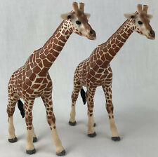 "New listing Set of 2 Schleich Giraffe Figure 5.5"" Tall 2003 Zoo Animal Giraffes"