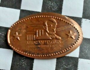 Abe Lincoln Museum elongated penny Springfield IL USA cent copper souvenir coin