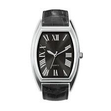 Italian Quartz Men's Analogue Stainless Steel Glass Imitation Leather Wristwatch