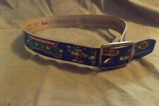 1988 Teenage Mutant Ninja Turtle Belt by Lee Jeans Usa Size 20-22 Leather Worn