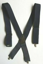 Americas Choice Navy Blue Adjustable Metal Clip On Heavy Duty Suspenders Braces