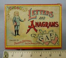 Antique Parker Brothers LETTERS & ANAGRAMS Game in Box