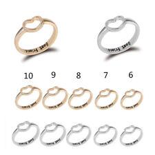Cool Women Love Heart Best Friend Ring Promise Jewelry Friendship Ring Size 6-10