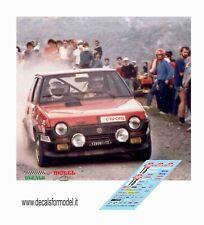 DECALS 1/43 FIAT RITMO 75 CUNICO RALLY SANREMO 1982