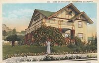 Old Postcard Home of Irene Rich Hollywood California Warner Brothers Star A217