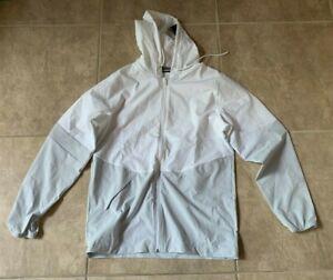 Under Armour Squad Warm-Up Jacket Zip Up w/ Hood White w/Grey Womens M NEW w/tag