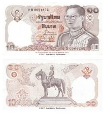 Thailand 10 Baht 1995 Commemorative Issue King Rama P-98 Banknotes UNC