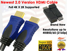 Newest 2.0v Super-Speed 4K X 2K HDMI 6FT+ 1080P DisplayPort to HDMI M/F Adapter
