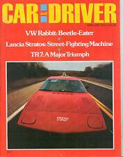 Car & Driver Apr 1975 - Triumph TR7 - Lancia Stratos - Buick Skyhawk V-6