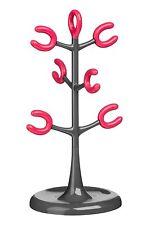 Six cuisine coloré coupe gris et rose chaud Tasse Cup arbre titulaire stand pole