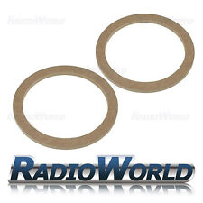 """6.5"""" 165mm MDF Speaker Spacer Mounting Rings 8mm Thick ID 144mm ED 176mm Pair"""