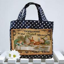 Alice in Wonderland Mad Hatter Blue Spotty Cool Lunch bag Insulated Tote AW06