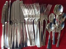 SET Christofle CONCORDE Silver-plate Table Dinner Forks Spoons Knives NEW