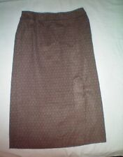 NWT NEW womens size 16W brown khaki CATO lined long acrylic tweed skirt