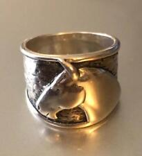 Silpada Equestrian Horse Head 925 Sterling Silver Wide Band Ring Size 8