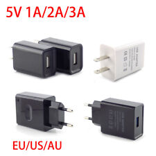Universal Travel 5V 1A/2A/3A USB Wall Power Adapter Charger for iPhone Samsung