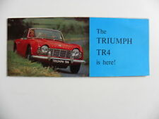 Petite brochure The TRIUMPH TR4 is here en anglais