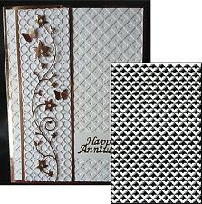 Lattice Background embossing folder CTFD3090 Crafts Too embossing folders