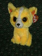 """Ty Beanie Boos - DANDELION  Gift Show Exclusive Yellow Chihuahua Dog ~ 6"""" ~ 2015"""
