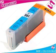 ENCRE CLI551C CLI 551 XL CYAN CARTOUCHE BLEU NON ORIGINAL COMPATIBLE 551XLC
