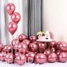 "25Pc Pink Chrome Shiny Metallic 12"" Party Balloons Baby Shower Wedding Birthday"