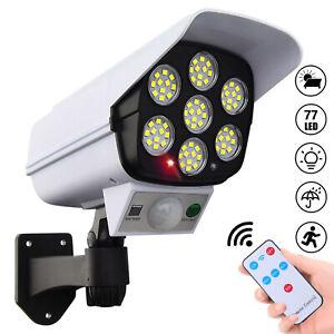 2 in 1 Solar Dummy Fake Surveillance Security Camera Waterproof IP65 Wall Light
