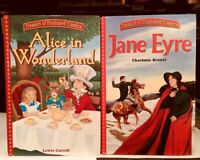 Treasury of Illustrated Classics *Jane Eyre* and  *Alice in Wonderland* Lot of 2