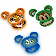 Urban Trend Kids Funwares Build-A-Meal Dinnerware Set - Tiger Monkey or Elephant