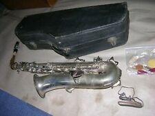 Vintage 1914 The Buescher Elkhart Ind. Saxophone Low Pitch True Tone with Case