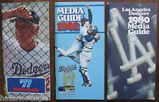 (3) Los Angeles Dodgers Baseball Media Guides: 1977, 1980 and 1982