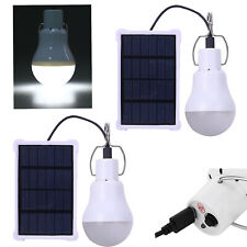 20W LED Solar Panel Powered Tent Lamp Yard Portable Camping Bulb Light Outdoor