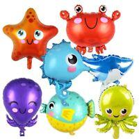 Ocean Animal Balloons Sea World Foil Ballons Boy Toys Birthday Party Decor HOT