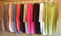 Italian layering lagenlook Cocoon dress parachute dress Cotton tunic 10-14