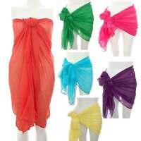 Neon Large Pareo Plus size Sarong/Beach/Cover-Up/Wrap/Kaftan Dress Hijab Scarf
