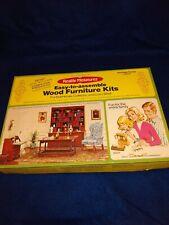 Vintage 1976 Realife Minitures Wood Furniture Kit 193 Library