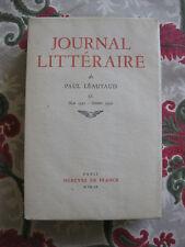 1960 Journal Littéraire Paul Léautaud Vol 9 Mai 1931-oct 1932 Bibliophilie EO