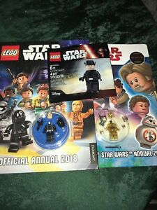 Lego Star Wars First Order General C3PO & Death Star Gunner Mini Figures & Books