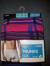 PACK OF 3 PAIRS MEDIUM 33-35 WAIST TRUNK  BOXER SHORTS MARKS AND SPENCER