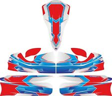 Aérographe Rouge custom full Kart Sticker Kit-Karting-GO Kart-jakedesigns