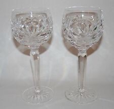 Set Of 2 Waterford Stems, Balloon Wine Hocks, Ashling Pattern, Excellent.