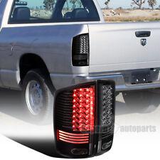 For 2002-2006 Dodge Ram 1500 2500 3500 Black LED Tail Brake Lights