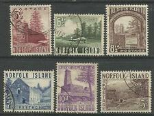 NORFOLK IS 1953 PICTORIAL DEFINITIVES 6v FINE USED