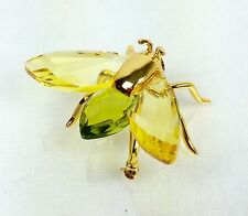 Daniel Swarovski Crystal & Goldplated Sterling Silver Bee Pin / Brooch